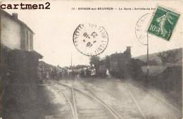 BRINON-SUR-BEUVRON LA GARE ARRIVEE DU TRAIN LOCOMOTIVE 58 NIEVRE