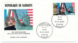 DJIBOUTI => FDC - Centenaire De La Statue De La Liberté - 21 Mai 1986 - Djibouti (1977-...)