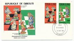DJIBOUTI => FDC - Championnats D'Echecs - 13 Oct 1986 - Yibuti (1977-...)