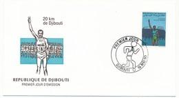 DJIBOUTI => FDC - 20 Km De Djibouti - 16 Mai 1990 - Djibouti (1977-...)