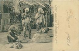 AK Hagenbeck's Malabaren-Truppe, Indische Zauberer, Um 1900 (23388) - Asia