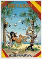 LIFE'S  A  BEACH  ESPANA         (VIAGGIATA) - Humor