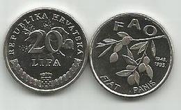 Croatia 20 Lipa 1995. KM#18 50 Years Of FAO HIGH GRADE - Croatia