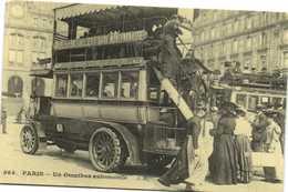 PARIS  Un Omnibus Automobile Recto Verso