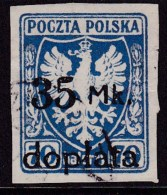 POLAND 1921 Postage Due Fi D36 Used - Portomarken