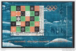 Bf. 161 YAR 1971 Yemen   XI Olympic Winter Games Sapporo 972 - Sheet Perforato Denver 1976 - Inverno1972: Sapporo