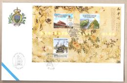 San Marino - Busta FDC Con Annullo Speciale E BF: 55° Anniversario Della Fondazione Della Rep.Pop.Cinese - 2004 - Cina
