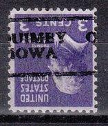 USA Precancel Vorausentwertung Preos Locals Iowa, Quimy 701