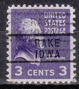 USA Precancel Vorausentwertung Preos Locals Iowa, Rake 729