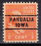 USA Precancel Vorausentwertung Preos Locals Iowa, Randalia 743