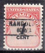 USA Precancel Vorausentwertung Preos Locals Iowa, Randolph 745