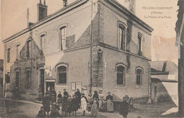 08 Villers-Marrmery 1907  La Mairie Et La Poste TB Animée éditeur Bieneruc? Et Dupony Reims - Autres Communes
