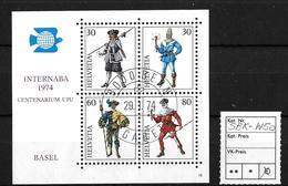 INTERNABA 1974 IN BASEL → Gedenkblock Mit Ausgabetag 29.I.74   ►SBK-W50◄ - Blocks & Kleinbögen