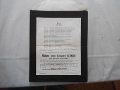 BRUAY EN ARTOIS MADAME VEUVE ALEXANDRE HENNION NEE CORALIE TOUZART LE 2 JANVIER 1929 DANS SA 78e ANNEE 53 RUE ANATOLE FR - Décès
