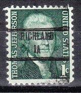 USA Precancel Vorausentwertung Preos Locals Iowa, Richland 853