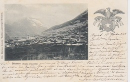 084-CARTOLINA - BRUSSON (VALLE D'AOSTA)  - CLUB ALPINO ITALIANO - VIAGGIATA NEL 1900 - Other Cities