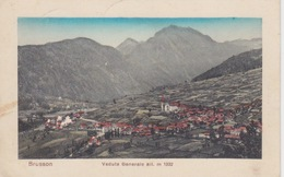 083-CARTOLINA - BRUSSON (VALLE D'AOSTA)  - VEDUTA GENERALE Alt. M.1332- VIAGGIATA NEL 1914 - Other Cities
