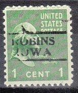 USA Precancel Vorausentwertung Preos Locals Iowa, Robins 728