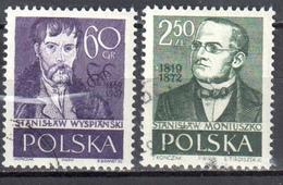 Poland 1958 - Wyspianski, Moniuszko - Mi 1076-77 - Used - 1944-.... République
