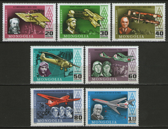 MONGOLIE:  PA.n°92/98 **, TB. Cote 5€. - Avions