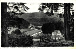 Cp Warstein Im Kreis Soest Nordrhein Westfalen, Langenbachtal Mit Forsthaus - Germania