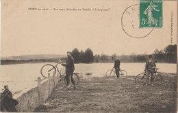 51 Beine 1910 Cyclistes Les Eaux Batardes à L'Argentel TB Animée éditeur Collection Schaafs-Luss Beine - France