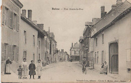 51 Beine 1907 Rue Asson La Rue TB Animée éditeur Collection Schaafs-Luss Beine Cliché Mulot à Reims - France