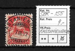 1914-1933 TELLBRUSTBILD → SBK-155, KASTANIENBAUM 7.II.22   ►RRR◄ - Gebraucht