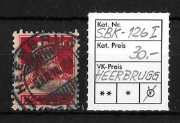 1914-1933 TELLBRUSTBILD → SBK-126 Type1, HEERBRUGG 5.XII.14   ►H Querstrich In Der Mitte◄ - Gebraucht