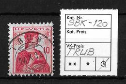 1909 HELVETIA BRUSTBILD → SBK-120, TRUB 14.X.12 - Gebraucht
