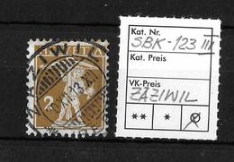 1909-1933 TELLKNABE MIT ARMBRUST→ SBK-123 III, ZÄZIWIL 30.XII.13 - Gebraucht