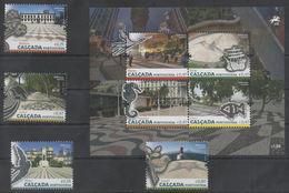 PORTUGAL ,  2016, MNH,PORTUGUESE PAVEMENTS, BIRDS, FISH, SEAHORSES, SHIPS, 4v+SHEETLET - Art