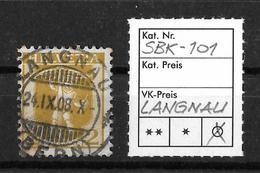 1907-1909 TELLKNABE (neue Zeichnungen) → SBK-101, LANGNAU 24.IX.08 - Gebraucht