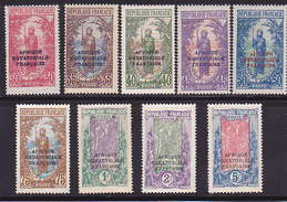 Congo N° 80-81-82-83-84-85-86-87-88 Neuf * - Voir Verso - - Congo Français (1891-1960)