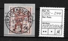 1941 Historische Bilder → Wilhelm Tell SBK-244, HERZOGENBUCHSEE 2.XI.43  ►super Vollstempel◄ - Suisse