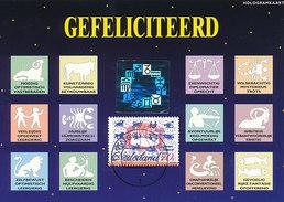 D29691 CARTE MAXIMUM CARD FD 1995 NETHERLANDS - SIGNS OF THE ZODIAC HOLOGRAM CP ORIGINAL - Astrologie