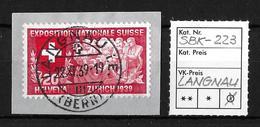 1939 SCHWEIZERISCHE LANDESAUSSTELLUNG ►SBK-223. LANGNAU 22.XI.39◄ - Suisse