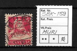 1914-1933 TELLBRUSTBILD → SBK-159, MURI 25.VIII.25 - Gebraucht