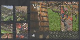 PORTUGAL, 2016, MNH, OLD VINEYARDS OF PORTUGAL, GRAPES, MOUNTAINS, HORSES, 4v+S/SHEET, NICE! - Frutta