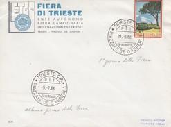 Italia Rep. 1966 - Busta Da Triesta, Fiera, X Fabriano 5/7/66 Affrancata Con 1 V. L. 20 - 1961-70: Marcophilia