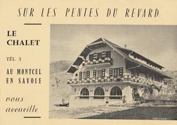 Sur Les Pentes Du Revard Le Chalet Au Montcel En Savoie - Double - Cartes De Visite