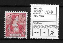 1907 HELVETIA MIT BRUSTBILD → SBK-104, OBERBUCHSITEN, 19.XII.08 - Gebraucht