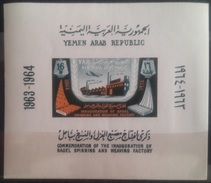 V25 - Yemen Arab Republic 1964 Mi. Block 24 - Inauguration Of Bagel Spinning & Waeving Factiry - MNH S/S - Yemen