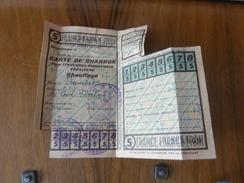 RATIONNEMENT CARTE DE CHARBON DOMESTIQUE  CHAUFFAGE  1945-46 MALESHERBES - Cartes