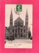 51 MARNE, REIMS, Eglise, Saint-Rémi, Animée, 1907, (A. Breger, Michaud) - Champigny