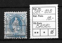 STEHENDE HELVETIA Gezähnt → SBK-93B, BASEL 3.VII.06 - Oblitérés