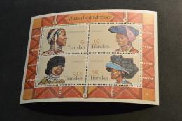 M2268- Bloc MNH Transkei 1981- SC.  87-90a- Xhosa Women's Headdresses - Transkei