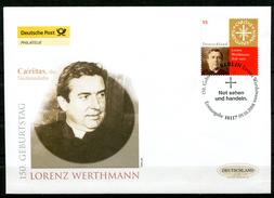 """First Day Cover Germany 2008 Mi.Nr.2697 Ersttagsbrief """"150.Geburtstag Von Lorenz Werthmann,1.Caritas Präsident"""" 1 FDC"""