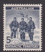 Australian Antarctic Territory  ASC 3 1959 Definitives 5 D Blue MNH - Unused Stamps