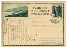 Suisse // Schweiz // Switzerland //  Entier Postaux 1930  //  Vevey - Entiers Postaux